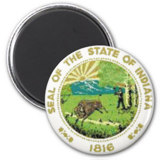 Indiana State Seal 2 Inch Round Magnet