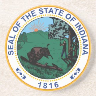 Indiana State Seal Coaster