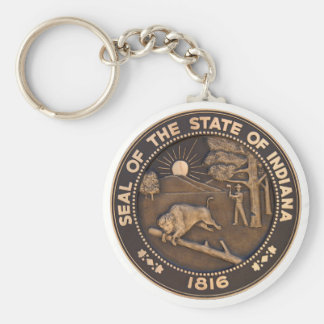 Indiana State Seal Keychains