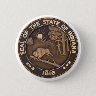 Indiana State Seal Pinback Button