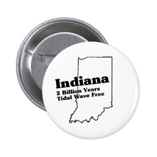Indiana State Slogan 2 Inch Round Button