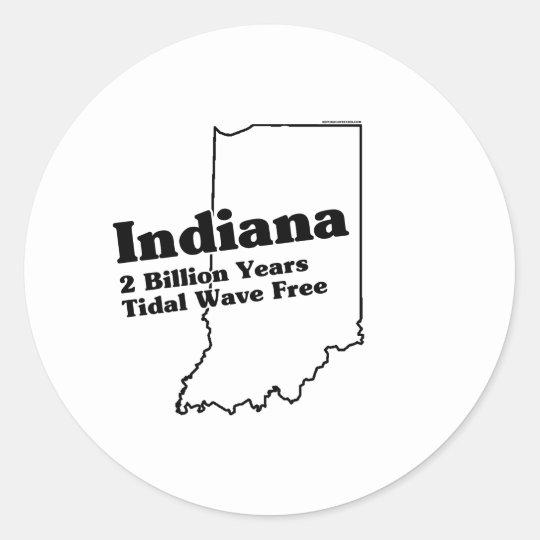 Indiana State Slogan Classic Round Sticker