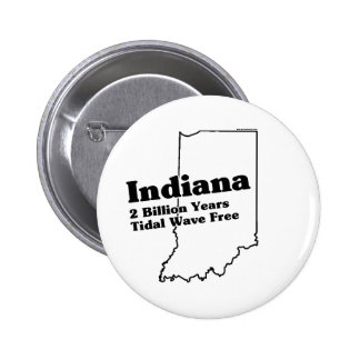 Indiana State Slogan Pinback Button