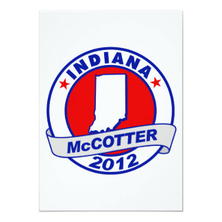 Indiana Thad McCotter 5x7 Paper Invitation Card
