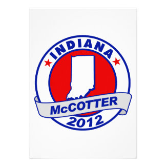 Indiana Thad McCotter Personalized Invite