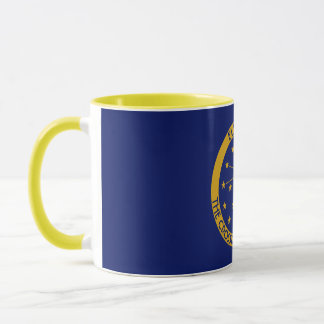 Indiana The Hoosier State Personalized Flag Mug
