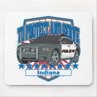 Indiana To Protect and Serve Police Squad Car Mouse Pad