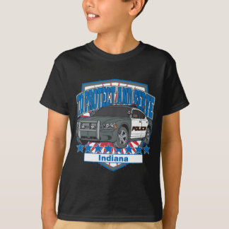 Indiana To Protect and Serve Police Squad Car T-Shirt