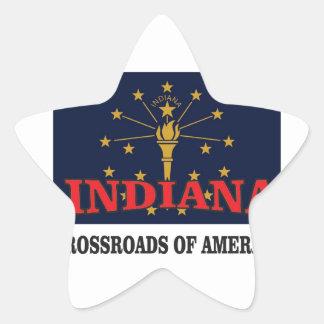 Indiana torch star sticker