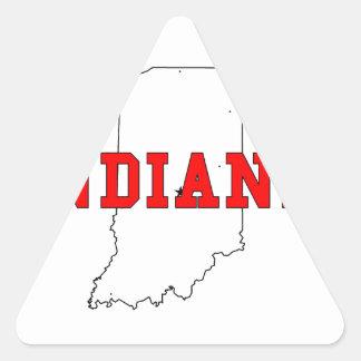 Indiana! Triangle Sticker