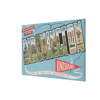 Indiana University - Large Letter Scenes Canvas Print