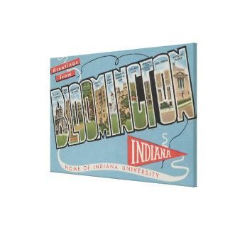 Indiana University - Large Letter Scenes Canvas Print