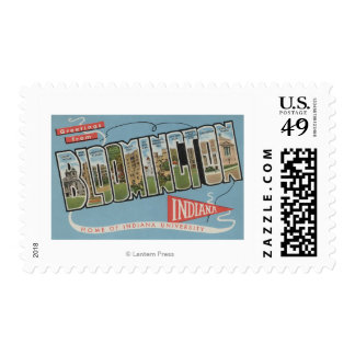 Indiana University - Large Letter Scenes Stamp