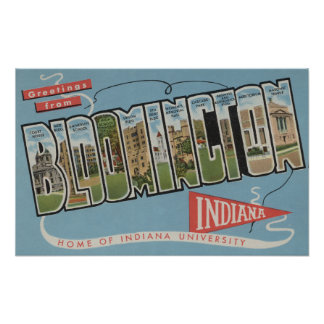 Indiana University - Large Letter Scenes Print