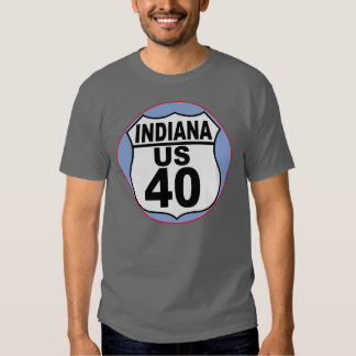 Indiana US Route 40 - The National Road T Shirt