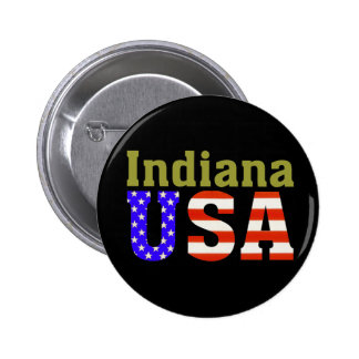 Indiana USA! Pinback Button