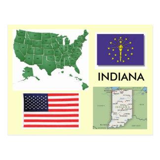 Indiana, USA Post Card