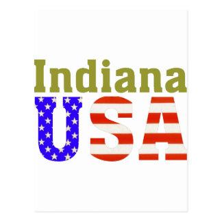 Indiana USA! Postcard