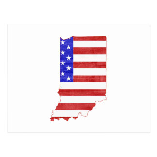 Indiana USA silhouette state map Postcard