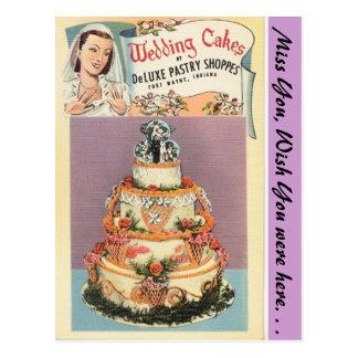 Indiana, Wedding Cakes, Fort Wayne Postcard