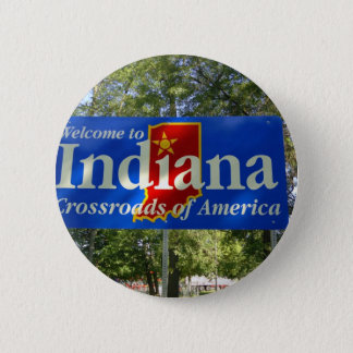 Indiana Welcome Sign Button