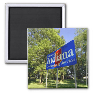 Indiana Welcome Sign Fridge Magnets