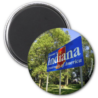 Indiana Welcome Sign Refrigerator Magnet