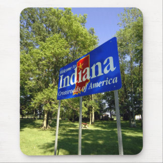 Indiana Welcome Sign Mouse Pad