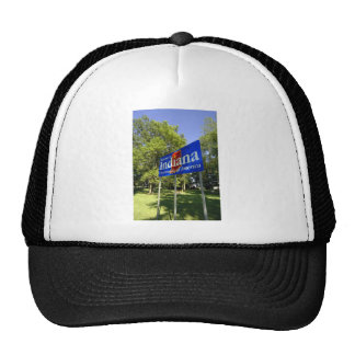 Indiana Welcome Sign Trucker Hat