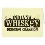 Indiana Whiskey Drinking Champion Card