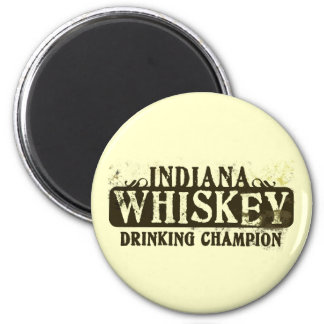 Indiana Whiskey Drinking Champion Magnet