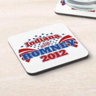 Indiana with Romney 2012 Beverage Coaster