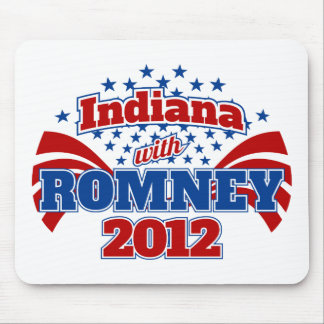 Indiana with Romney 2012 Mouse Pad
