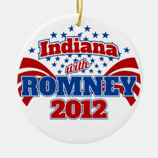 Indiana with Romney 2012 Christmas Tree Ornament