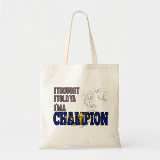 Indianan and a Champion Budget Tote Bag