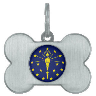 Indianan Flag Pet Name Tags