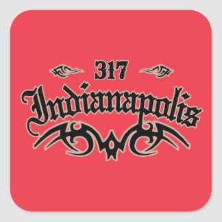 Indianapolis 317 square sticker