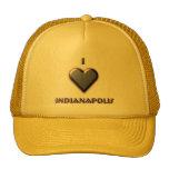 Indianapolis -- Azul con resplandor Gorros Bordados