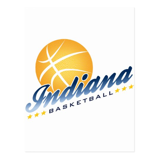 Indianapolis Basketball Postcard