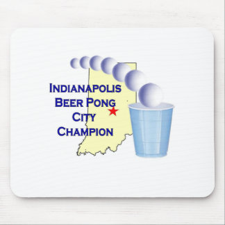 Indianapolis Beer Pon Champion Mousepads