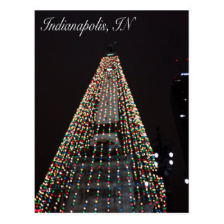 Indianapolis Circle of Lights Tree Christmas Postcard