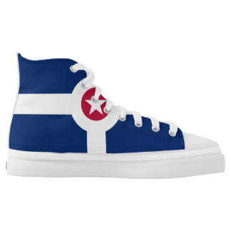 indianapolis city flag america symbol usa High-Top sneakers