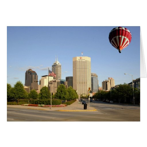 Indianapolis City Skyline Card