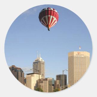 Indianapolis City Skyline Classic Round Sticker
