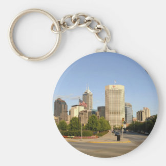 Indianapolis City Skyline Keychain