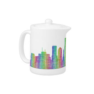 Indianapolis city skyline teapot