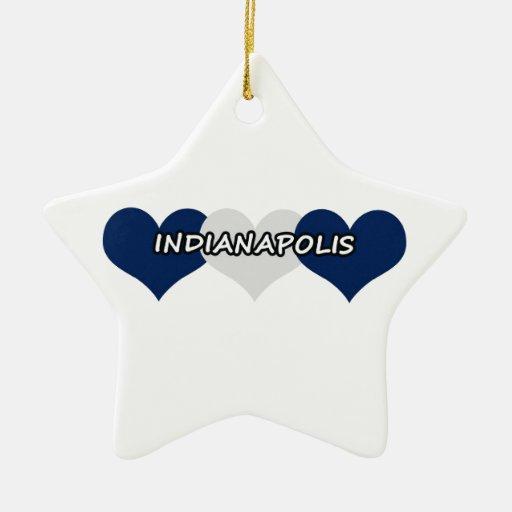 Indianapolis Adorno De Cerámica En Forma De Estrella