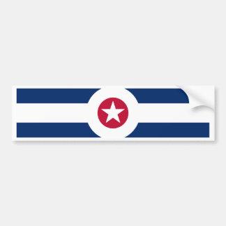 Indianapolis flag bumper sticker
