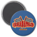 Indianapolis Flagged 3 Inch Round Magnet
