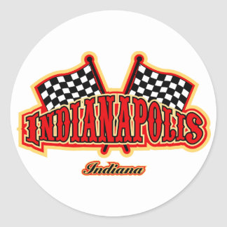 Indianapolis Flagged Classic Round Sticker
